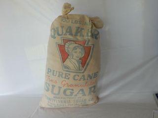 QUAKER PURE CANE 100 lB  SUGAR BAG