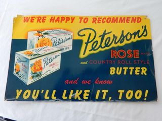 WE RECOMMEND PETERSON S BUTTER S S POSTER