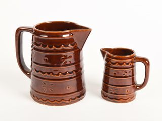 lOT OF 2 MARCREST OVEN PROOF STONEWARE PITCHERS