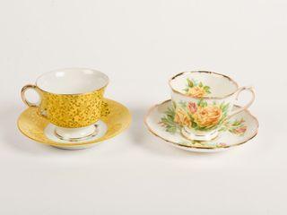 lOT OF 2 BONE CHINA TEA CUPS