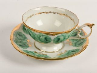 SHAFFORD HAND DECORATED TEA CUP