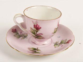 SHAFFORD HAND PAINTED MINIATURE TEA CUP