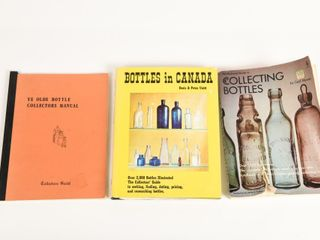 GROUPING OF 3 BOTTlE COllECTING BOOKS