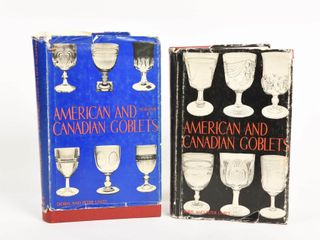 lOT OF 2 AMERICAN   CANADIAN GOBlETS   DUST COVERS