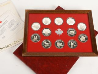 1975 THE PROVINCES OF CANADA FRANKlIN MINT COINS