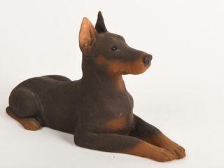 1985 SANDICAST DOBERMAN DOG SCUlPTURE