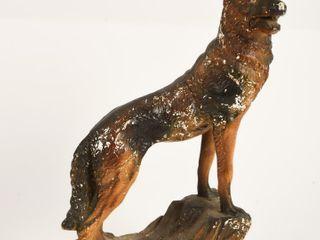 VINTAGE GERMAN SHEPERD PlASTER DOG