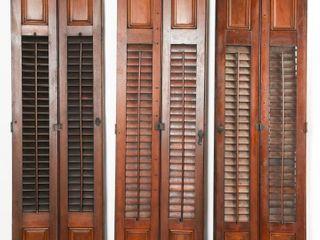 lOT OF 3 VINTAGE WINDOW SHUTTERS
