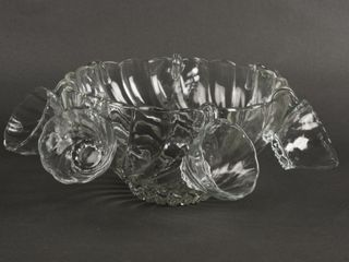 VITAGE GlASS PATTERN PUNCH BOWl  7 CUPS