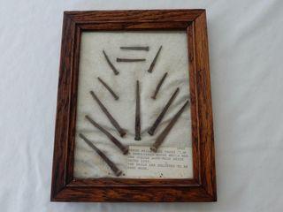 FRAMED 1849 12 HAND MADE NAIlS