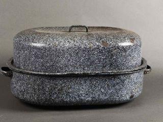 VINTAGE GRANITEWARE OVAl ROASTING PAN