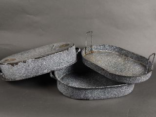 McClARY GRANITEWARE ROASTING PAN