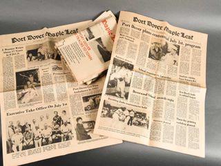 GROUPING 1978 79 SIMCOE   PORT DOVER NEWSPRINT