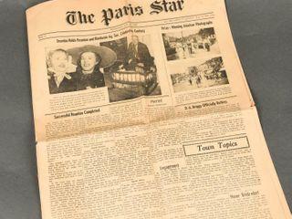 1950 THE PARIS STAR AUGUST 10TH NEWSPAPER