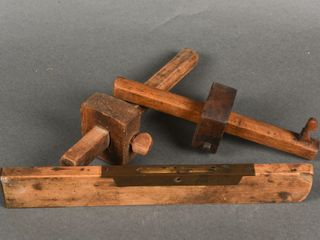 lOT OF 3 VINTAGE WOODEN TOOlS