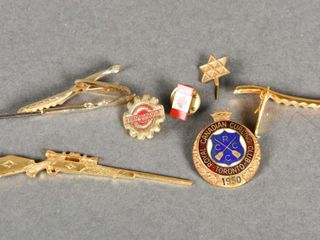 GROUPING OF 7 TIE TAC S   PINS