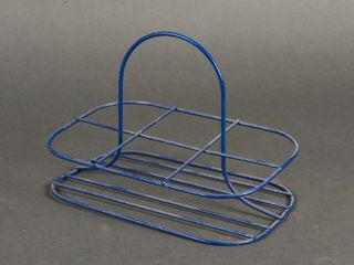 VINTAGE 6 GlASS WIRE RACK