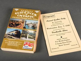 lOT 2 1960 S GUIDEBOOK ONTARIO   GARDEN PARTY