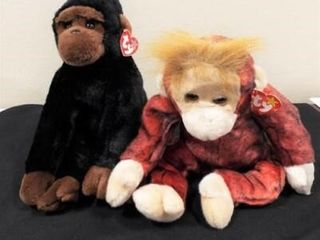 Beanie Buddies Congo and Schweetheart
