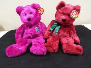 Beanie Buddies Millennium and Cranberry Teddy