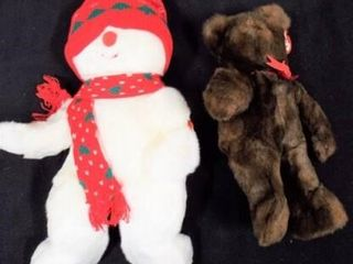 Beanie Buddies Baby PJ and Snowboy