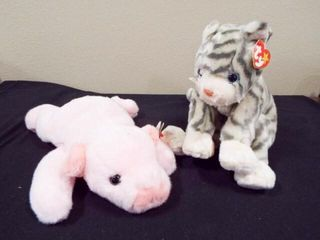 Beanie Buddies Squealer and Silver