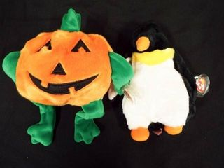 Beanie Buddies Waddle and Pumkin