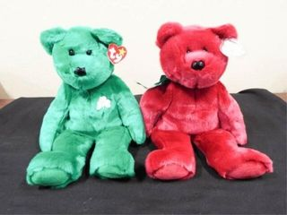 Beanie Buddies Cranberry Teddy and Erin
