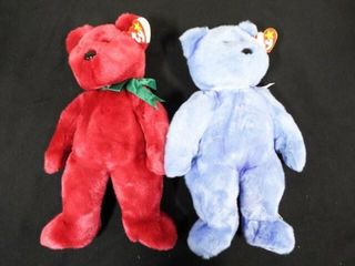 Beanie Buddies Cranberry Teddy and Clubby II