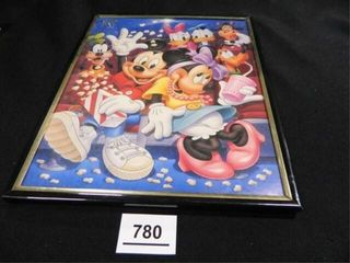 Mickey Mouse Print  8 x 10  framed