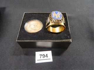 Mickey Mantle Ring   Coin Set