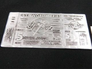 1956 World Series Replica Ticket