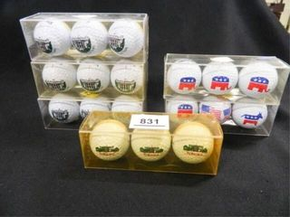 Golf Balls  6  pkgs  Assorted logos