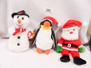 Snowball  Zero  Santa Beanie Babies
