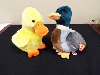 Beanie Buddies Quackers and Jake
