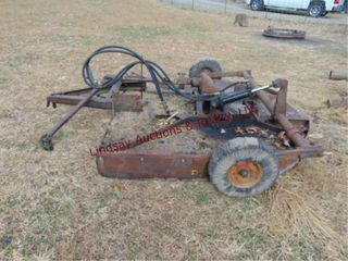 6  pull type rotary mower w  hyd whl lift