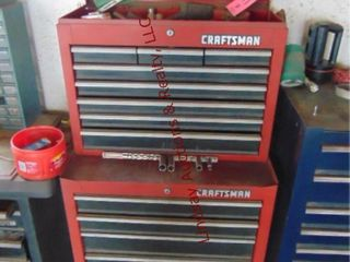 Craftsman tool box 27  x 53  on wheels WITH