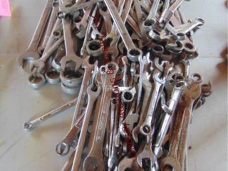 1 large lot combo wrenches  various size   brand