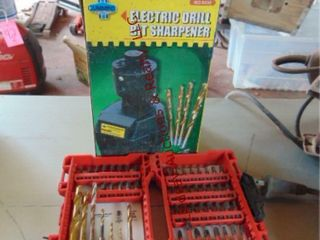Elec drill bit sharpner   pack of bits