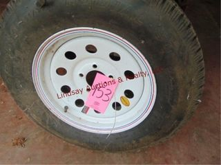 5 lug trailer tire ST205  75  15