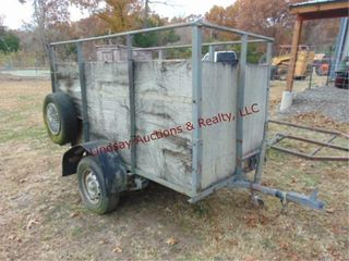 4  x8  SA trailer  52  sides  2  ball  flat tire