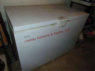 Whirlpool chest type deep freezer 46 x 27  x 34