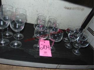 3 lots of stemware