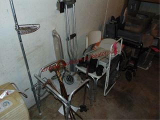 1 lot of handicap equip  wheelchair  shower seat