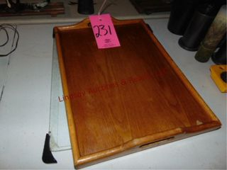 2 cutting boards   wood serving tray