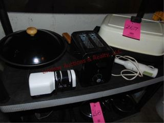 5 pcs small appliances  elec wok  toaster