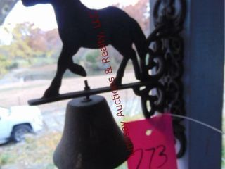 Metal horse bell hanging decor