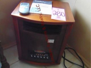 Comfort furnace elec floor heater w  book   remote