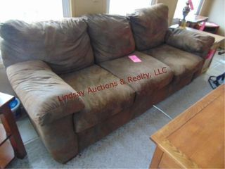 Brown sofa approx 86  x 36