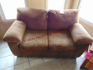 Brown love seat 64  x 36